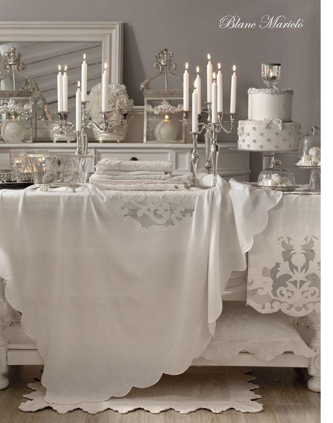 Idee bellissime per la tavola a primavera dal brand blanc maricl arredamento provenzale - Tovaglie da tavola eleganti moderne ...