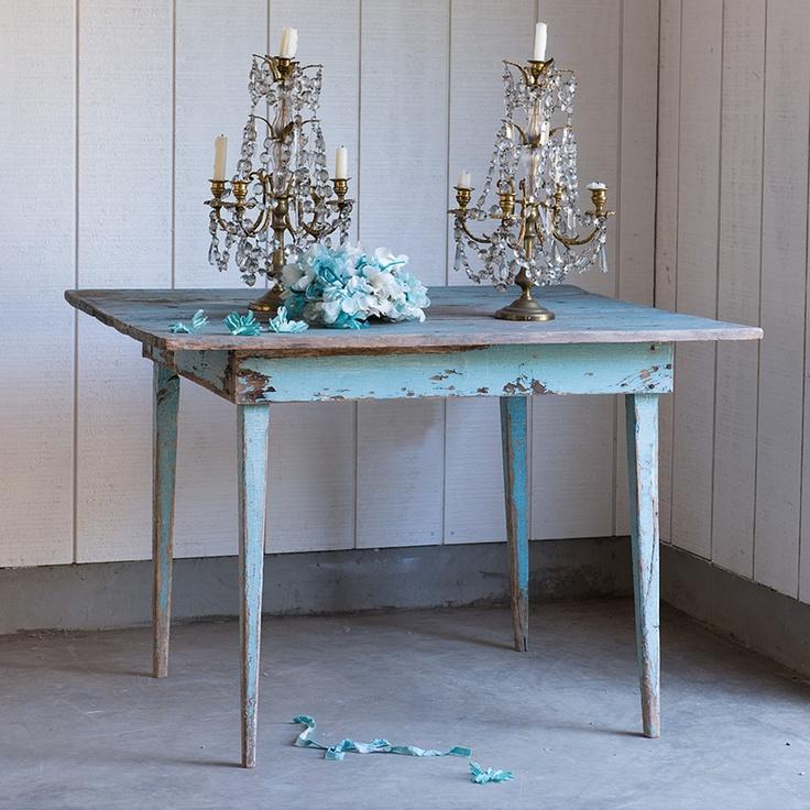 Una gallery di tavoli azzurri in stile Shabby Chic - Arredamento ...