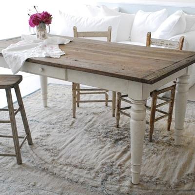 Il tavolo shabby chic secondo rachel ashwell arredamento - Tavolo in legno bianco ...