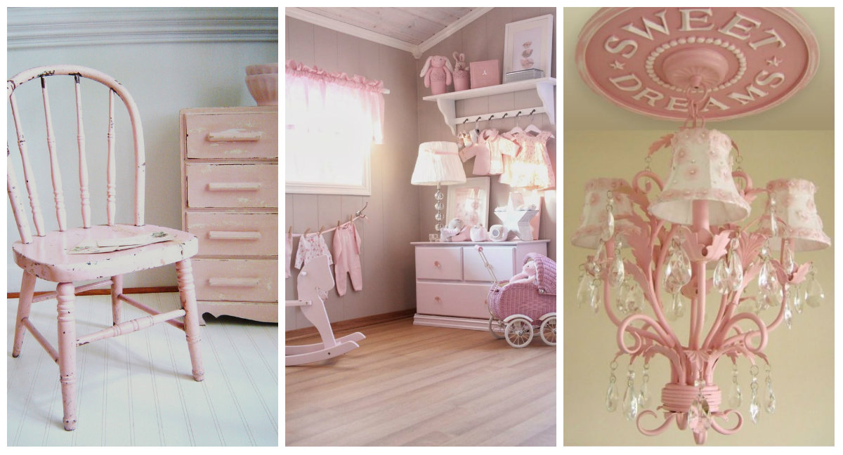 Camere Shabby Chic Foto : Il rosa per la camera delle bambine in stile shabby chic