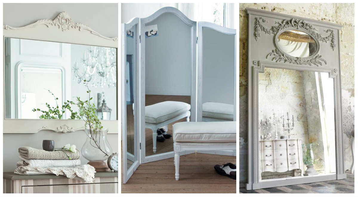 lo specchio shabby chic secondo maison du monde arredamento provenzale. Black Bedroom Furniture Sets. Home Design Ideas