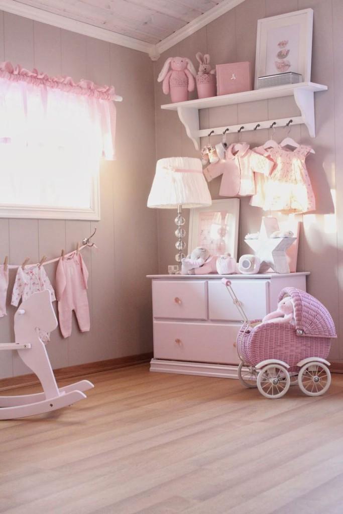 Il rosa per la camera delle bambine in stile Shabby Chic ...