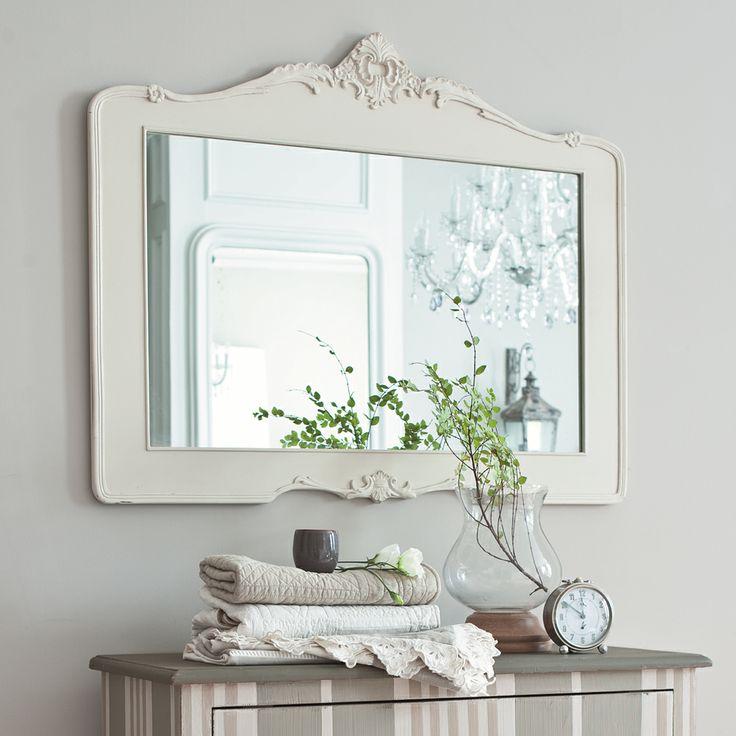 Lo specchio shabby chic secondo maison du monde for Specchio a muro senza cornice