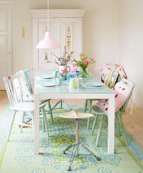 Il tappeto shabby chic in cucina, una gallery di ambienti ...