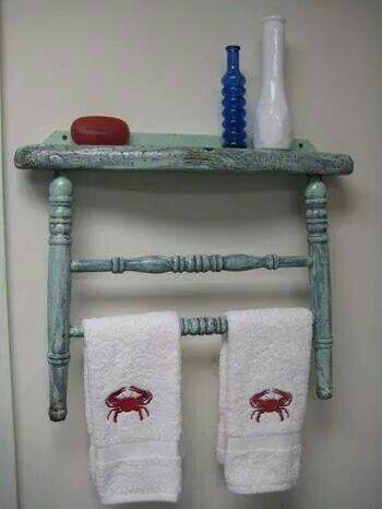 Consigli per riutilizzare una vecchia sedia in perfetto stile shabby chic arredamento provenzale - Porta asciugamani stile provenzale ...