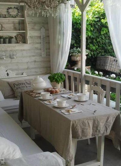 facciamo colazione shabby chic in giardino! - arredamento provenzale - Arredamento Esterno Shabby