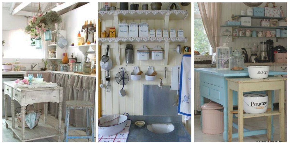 L 39 azzurro nella cucina shabby chic arredamento provenzale for Arredamento country provenzale