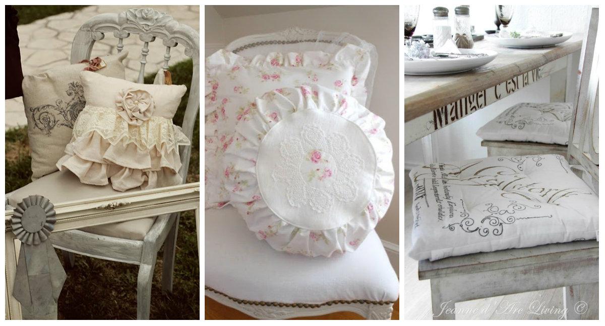 I cuscini shabby chic per le sedie una gallery di idee per la vostra casa arredamento provenzale - Idee shabby chic per la casa ...