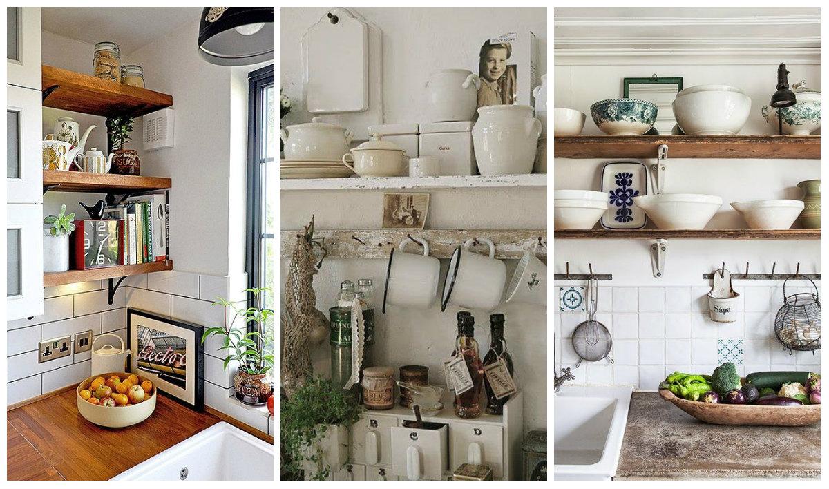 Consigli per mensole shabby chic in legno arredamento - Mensole acciaio per cucina ...
