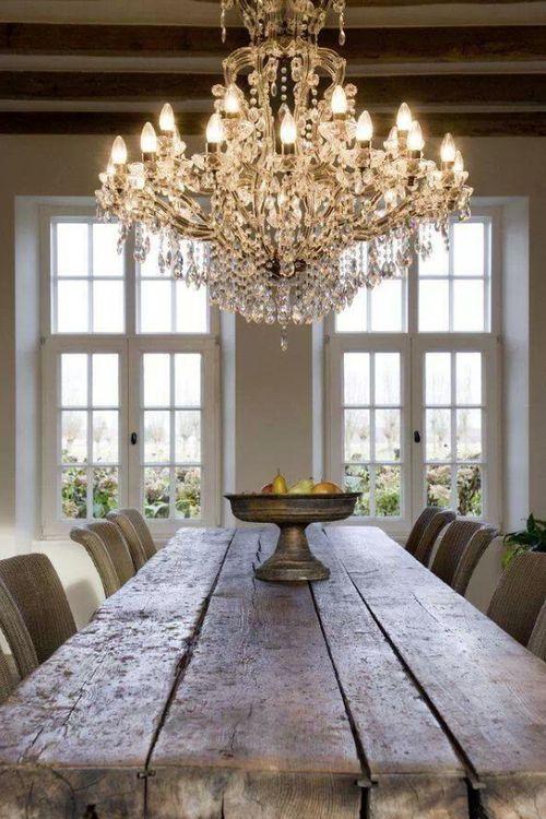 Il lampadario shabby chic per cucina e sala da pranzo for Sala da pranzo decor