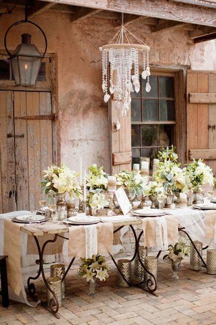 Il lampadario shabby chic per cucina e sala da pranzo ...