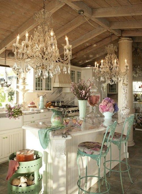 Il lampadario Shabby Chic per cucina e sala da pranzo - Arredamento ...