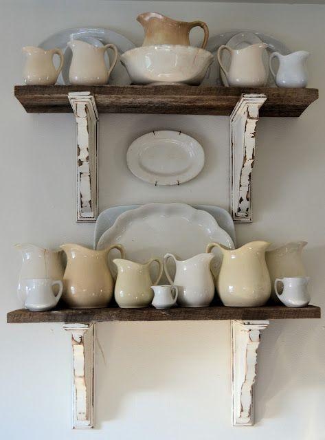 Consigli per mensole Shabby Chic in legno - Arredamento Provenzale