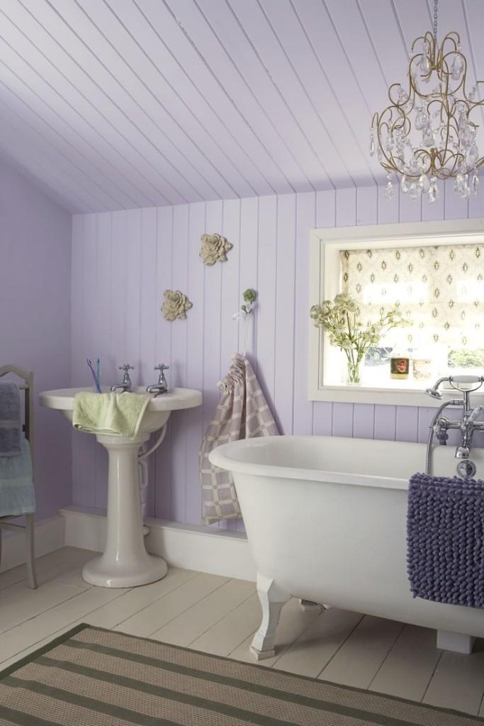 Il verde menta nel bagno Shabby Chic, idee romantiche per ...