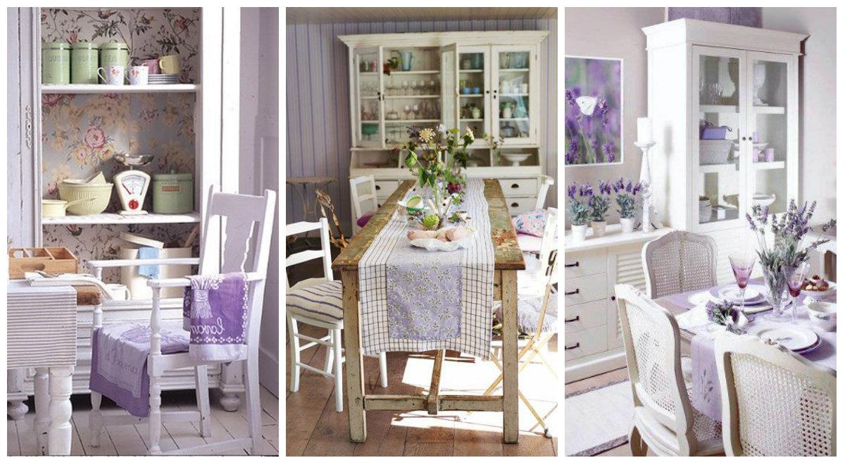 La magia del color lavanda in cucina arredamento provenzale - Cucina color melanzana ...