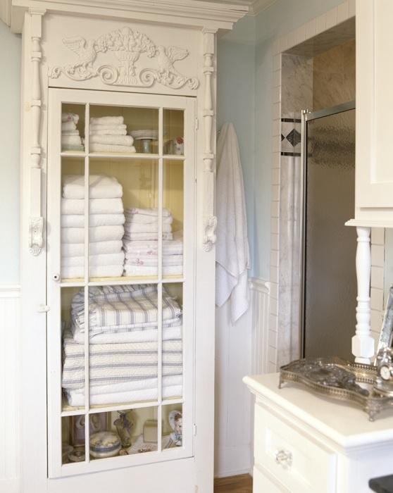 Consigli per l'armadio Shabby Chic in bagno   Arredamento ...