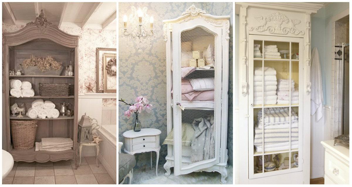 Consigli per l 39 armadio shabby chic in bagno arredamento - Bagno stile shabby ...