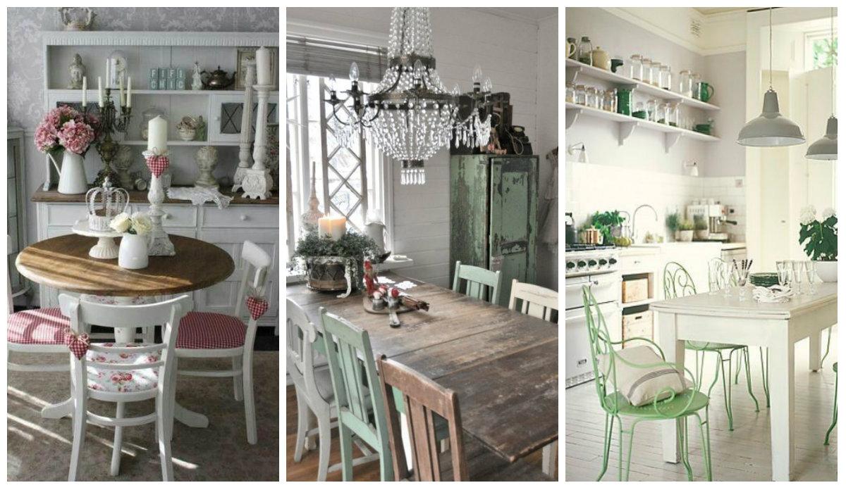le sedie da cucina in stile shabby chic arredamento