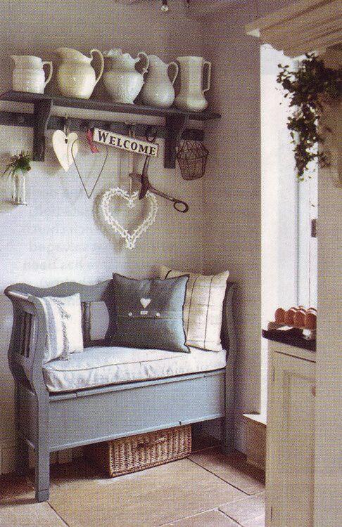 Una gallery di meravigliose panche shabby chic scelte per voi arredamento provenzale - Panche per ingresso casa ...