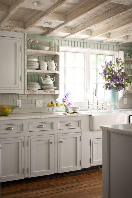 Quali colori e tonalità utilizzare per le pareti di una cucina Shabby Chic (gallery fotografica ...