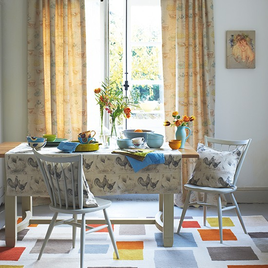 Arrediamo la sala da pranzo in stile shabby chic consigli e idee per renderla unica - Tende per sala da pranzo ...