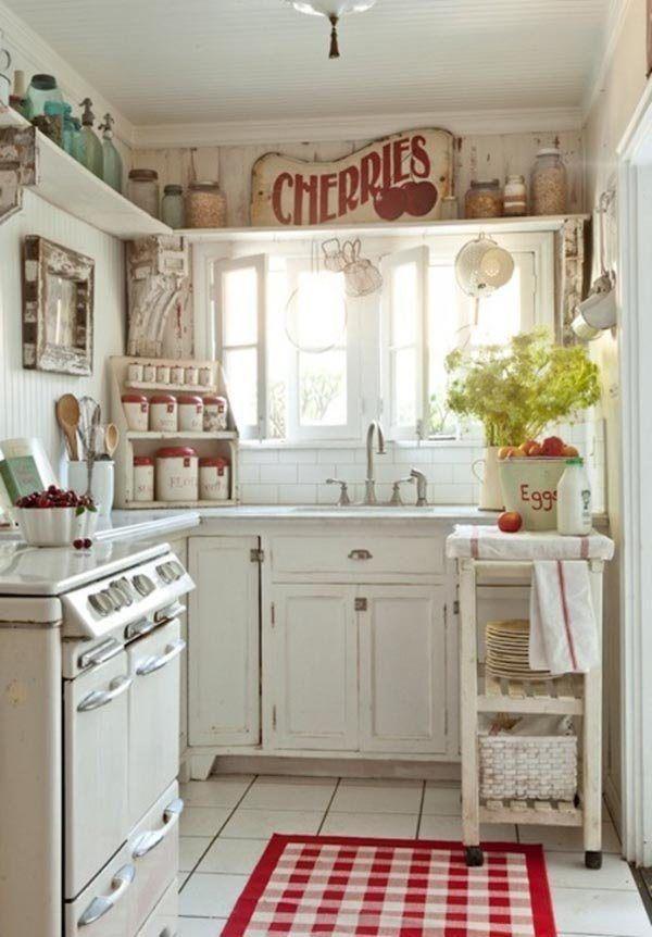Il rosso nella cucina Shabby Chic, idee, consigli e dettagli ...