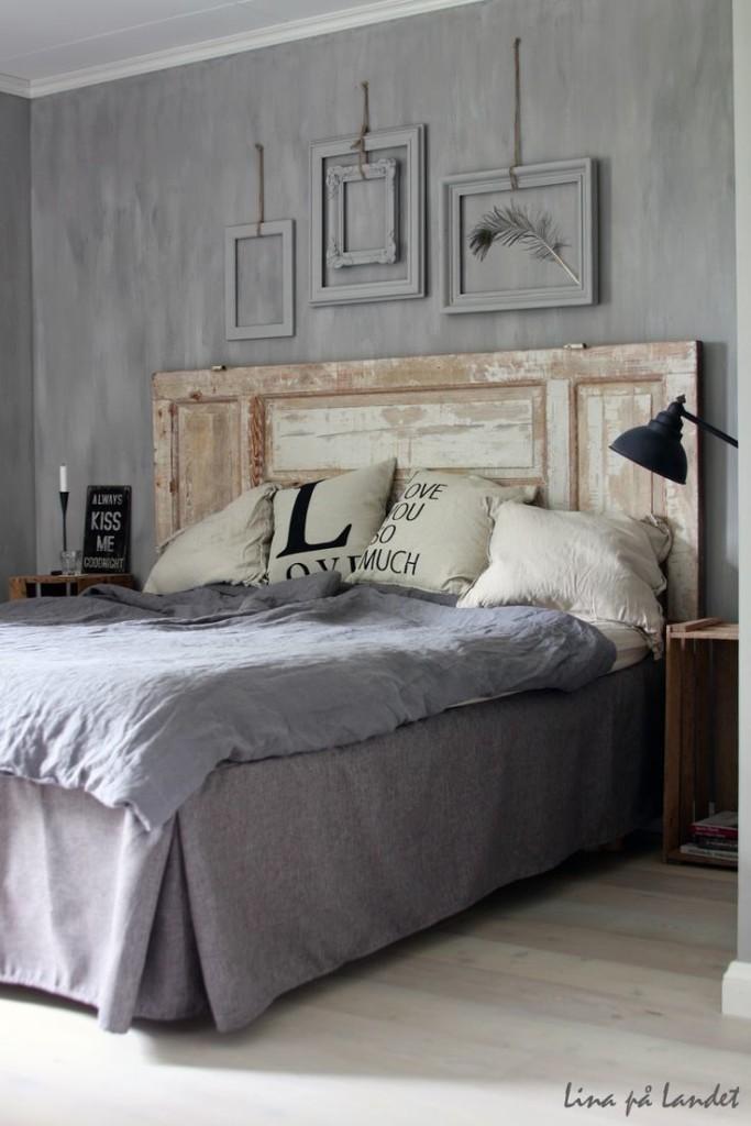 Consigli per la testata del letto shabby chic - Un letto in una nicchia ...