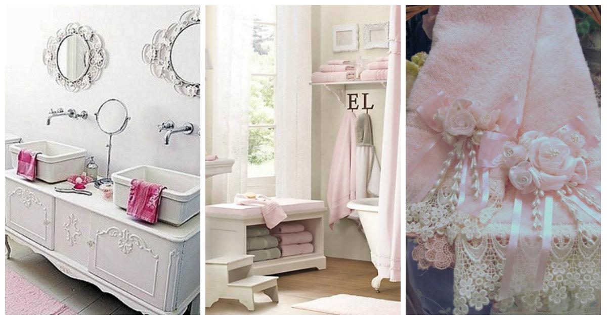 La biancheria da bagno 6 consigli e idee per ispirarvi con il rosa shabby chic arredamento - Biancheria da bagno ...