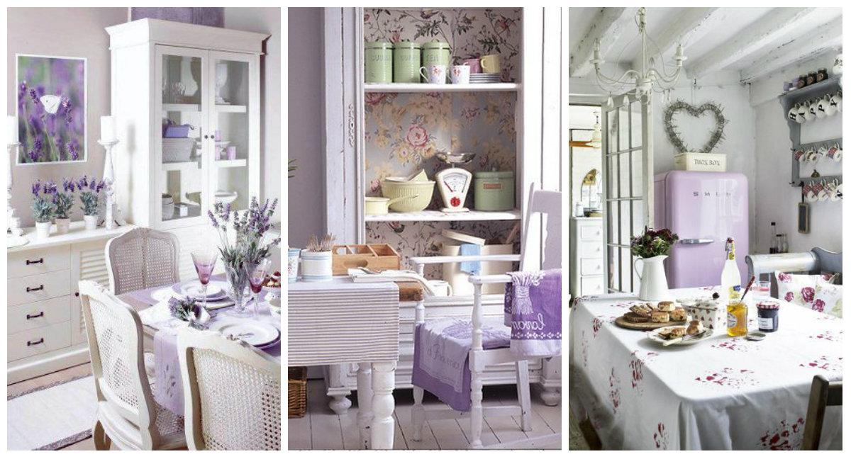 Il color lavanda nella cucina Shabby Chic - Arredamento Provenzale