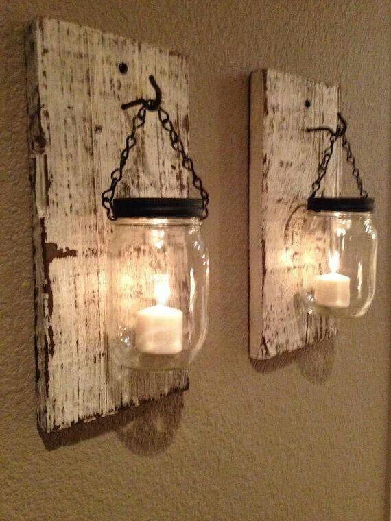 Favoloso Alcune idee per dei porta candele creativi in stile Shabby Chic  KA93