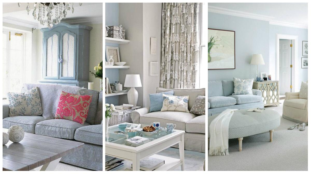 6 consigli in voga nel 2018 per arredare di azzurro il for Idee per tinteggiare il salotto