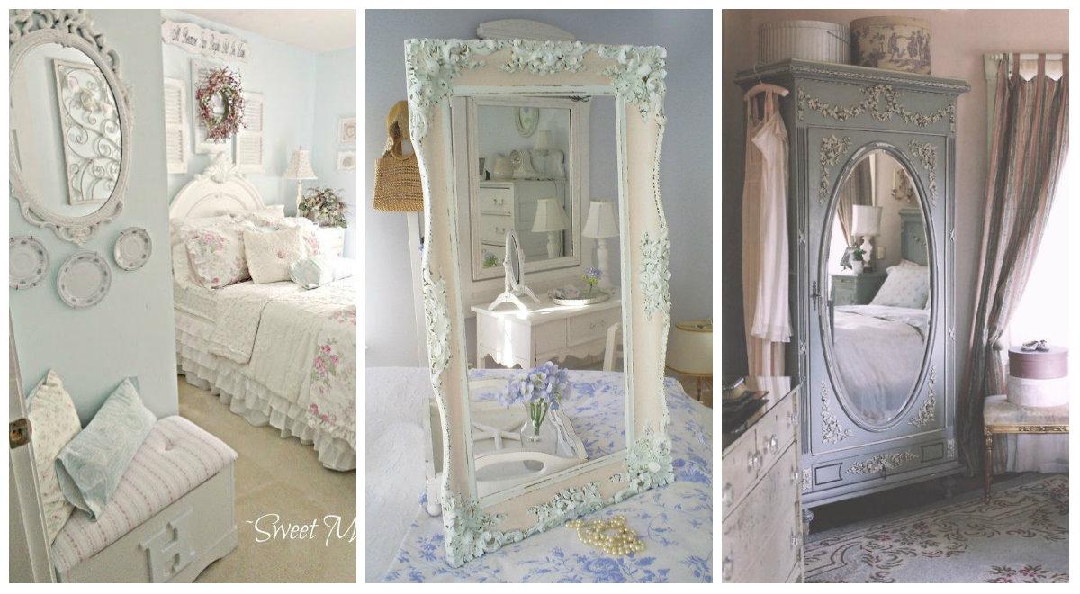 Lo specchio in camera da letto qualche idea per - Specchio ovale shabby chic ...