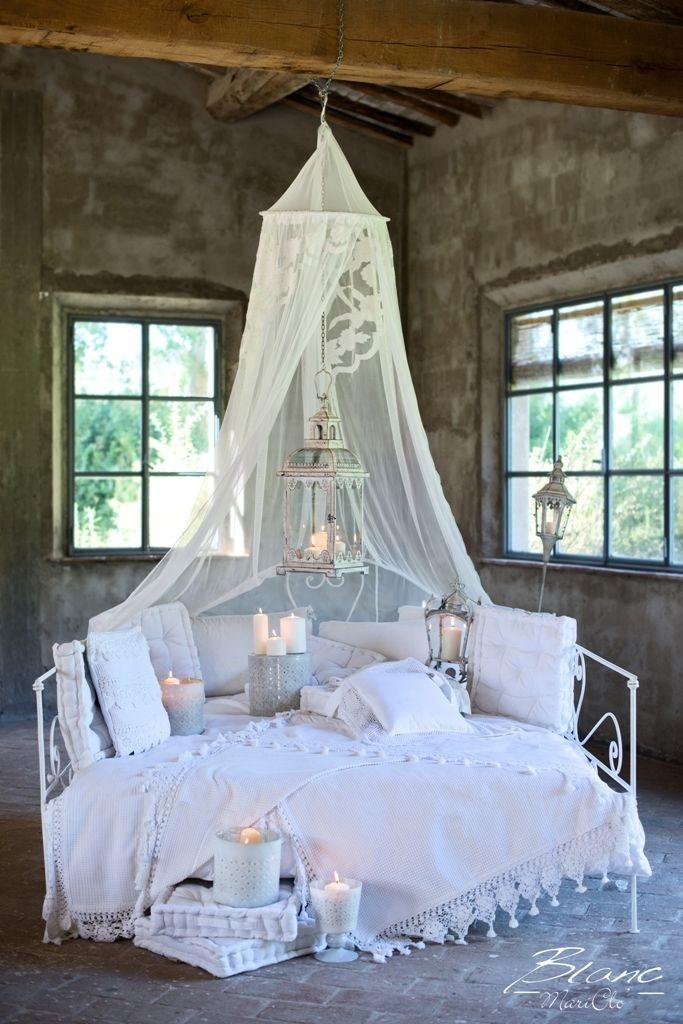 I letti di blanc maricl meraviglia shabby chic arredamento provenzale - Zanzariera letto ...