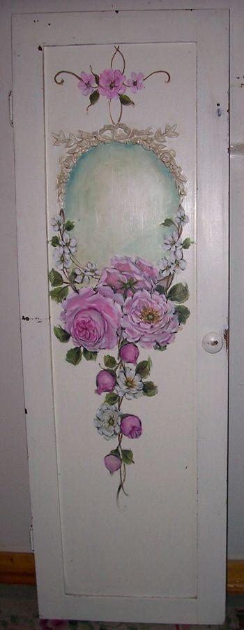 Come decorare una vecchia porta con il decoupage arredamento provenzale - Decoupage su mobili vecchi ...