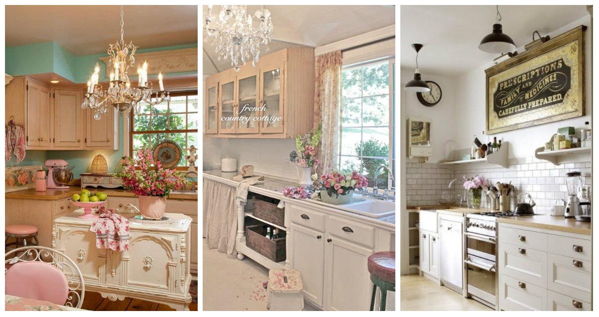 Idee e consigli per donare dei romantici tocchi di vintage alla cucina - Arredamento Provenzale