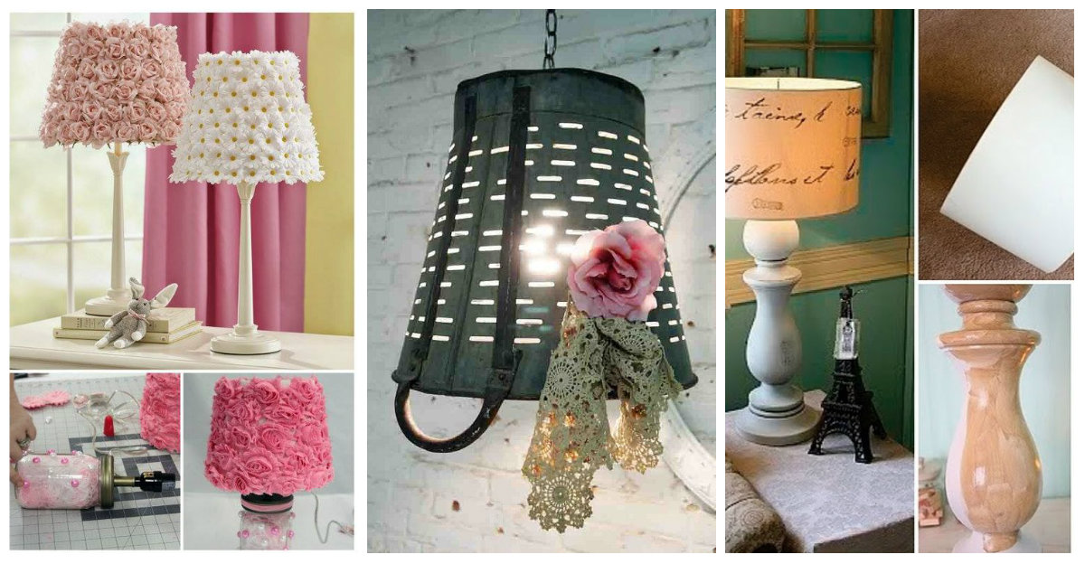 Idee e tutorial shabby chic per decorare il portalampada for Decorare stanza shabby chic