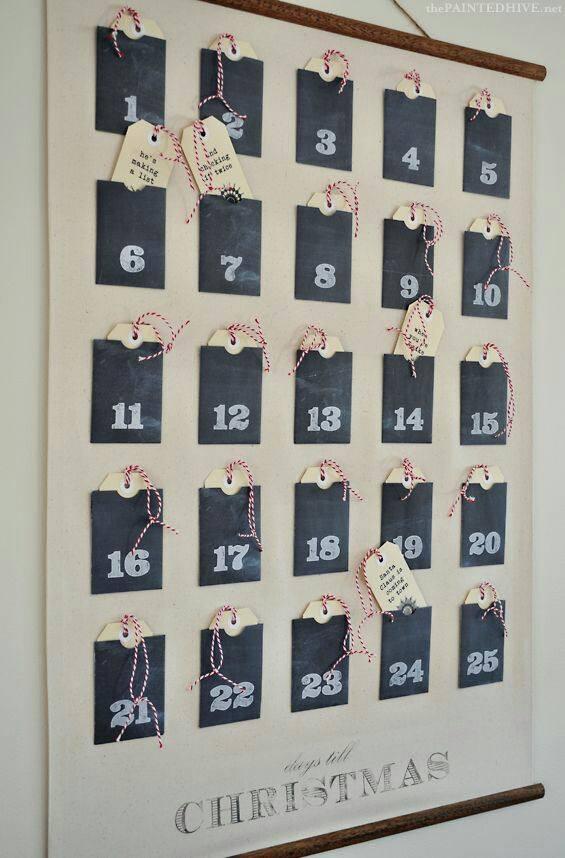 Idee Calendario.La Magia Del Calendario Dell Avvento Shabby Chic 9 Idee E