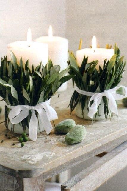 centrotavola-candela-ulivo