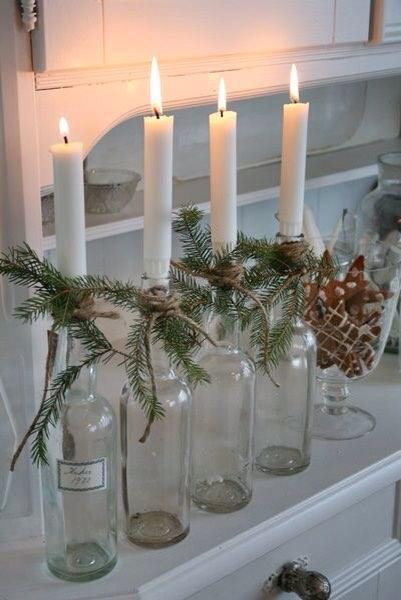 centrotavola-candele-bottiglie