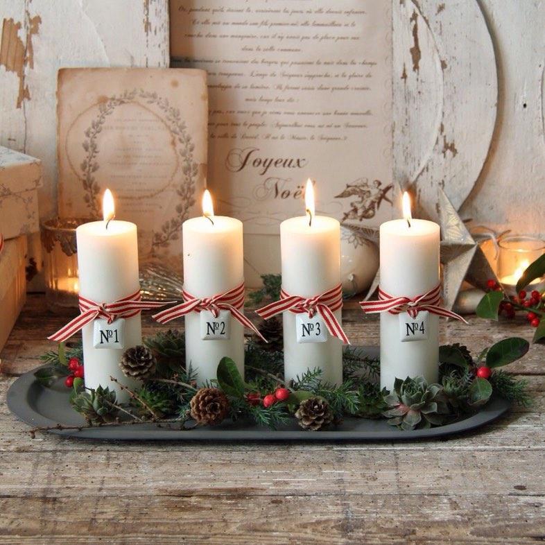 15 idee originali per creare dei bellissimi centrotavola for Advent decoration ideas