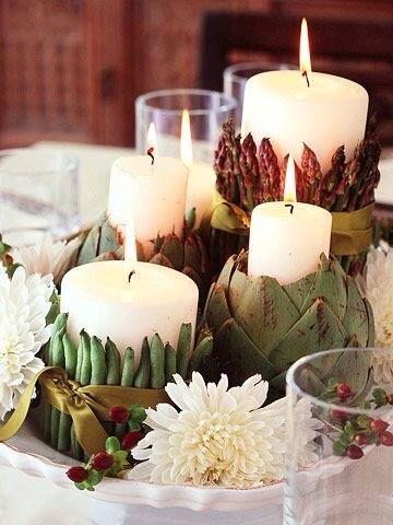 centrotavola-candele-ortaggi