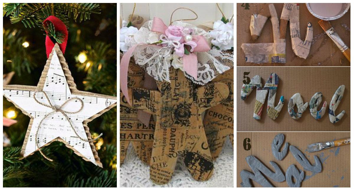 6 idee per creare decorazioni natalizie fai da te in stile - Decorazioni natalizie stile shabby chic ...