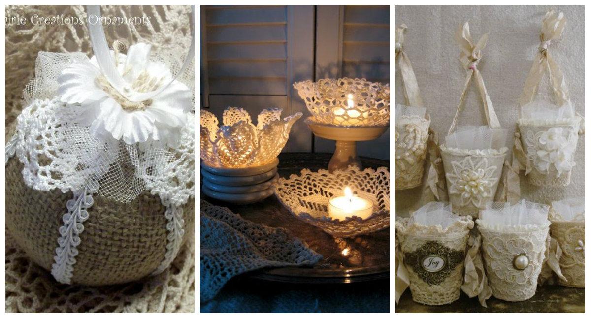 6 idee per delle semplici decorazioni natalizie fatte con - Decorazioni natalizie stile shabby chic ...