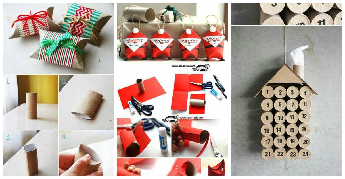 8 mini tutorial per riutilizzare i rotoli di carta igienica come decorazioni natalizie in stile - Decorazioni natalizie carta ...