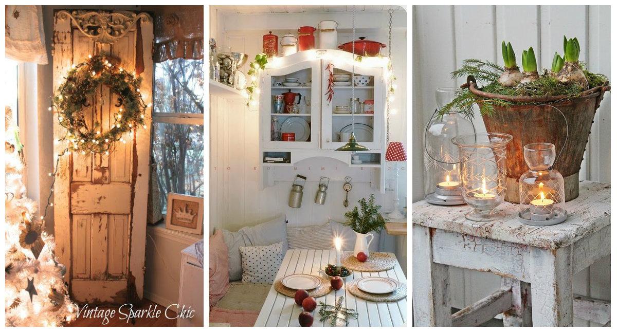 Luci natalizie ecco un p di idee e dettagli romantici - Idee shabby chic per la casa ...