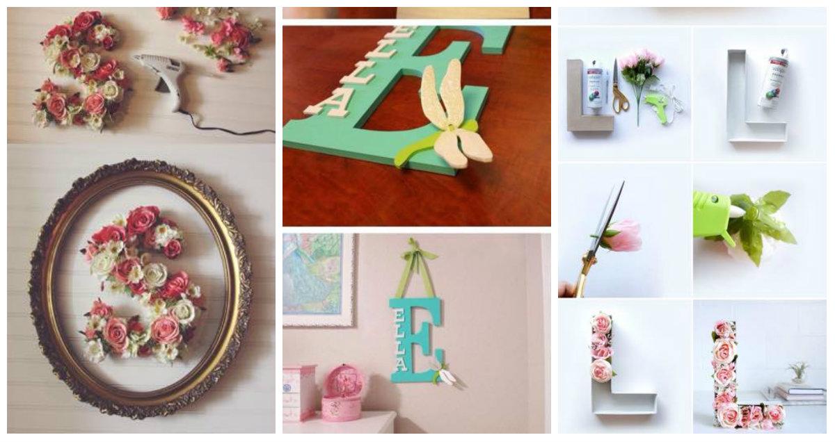 Lettering idee creative fai da te per la casa in stile shabby chic arredamento provenzale - Idee shabby chic per la casa ...