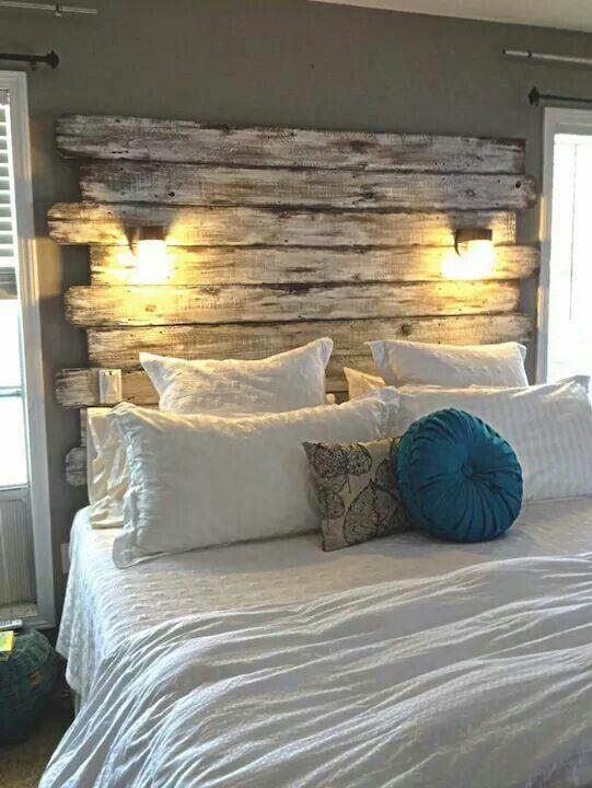 Fai da te e riuso idee in legno per la camera da letto e per il bagno shabby chic arredamento - Idee per testata letto ...
