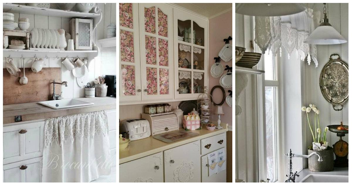 Idee e dettagli Shabby Chic per addobbare la cucina con il ...