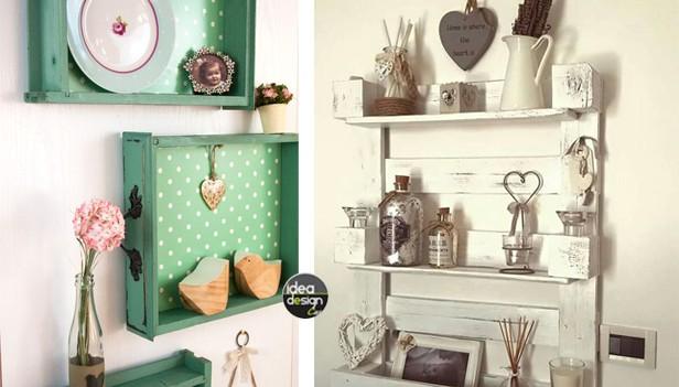 6 idee da capogiro per mensole fai da te in stile shabby for Arredamento originale casa