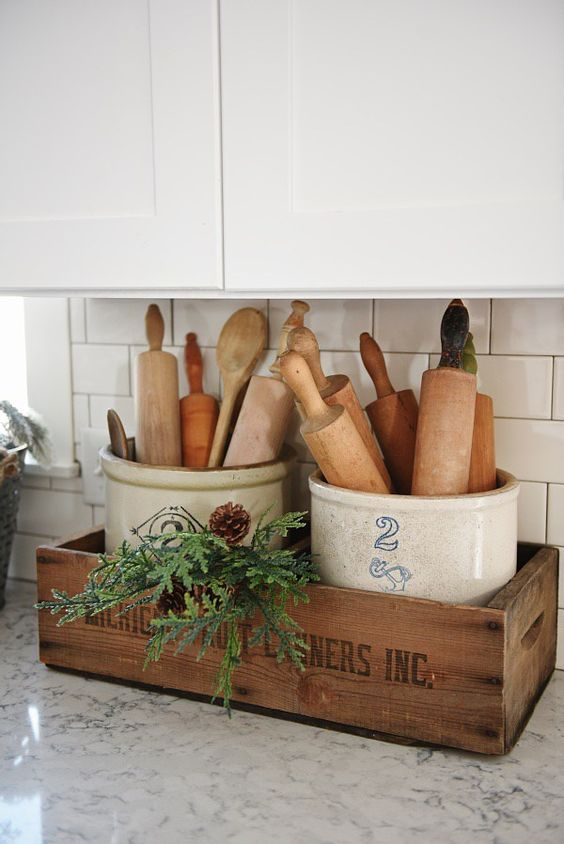 Idee fai da te per arredare la cucina con il legno in stile Shabby ...